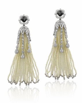 seed pearl tassel earrings Yael Designs